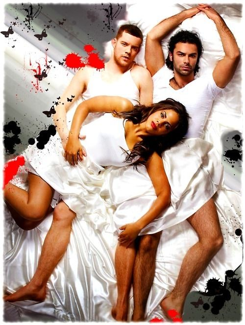 cast of being human, russell tovey, aidan turner, lenora crichlow