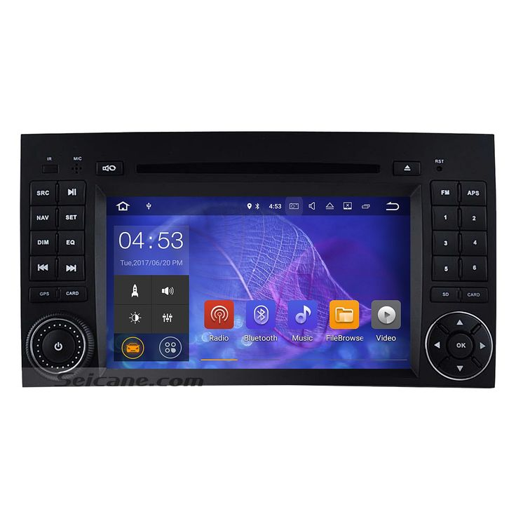Seicane All in one Android 7.1 Radio DVD Play GPS Stereo Upgrade for 2004-2012 Mercedes Benz B Class W245 B160 B180 B200 Support Bluetooth FM AM USB WIFI Backup Camera DVR OBD2 Mirror Link Steering wheel control