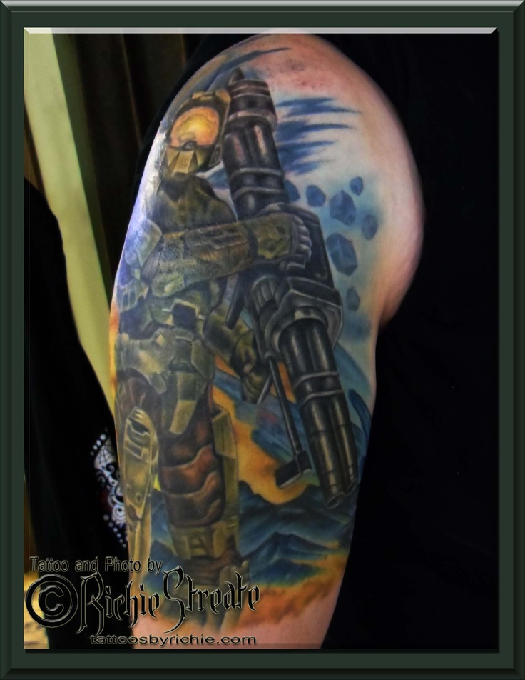 67 best tattoo 39 s by richie streate images on pinterest for Tattoos by halo