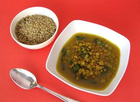 SOSCuisine: Curried Lentil and Spinach Soup