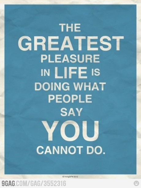 The Greatest Pleasure in Life
