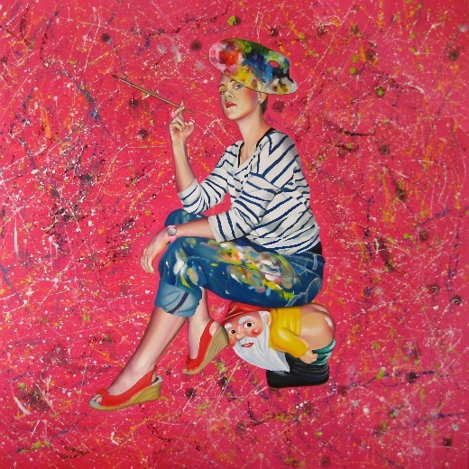 No talent? No inspiration? Go abstract! You're an artist after all!  160cm x 160cm, olej, płótno, 2011 160cm x 160cm, oil, canvas, 2011