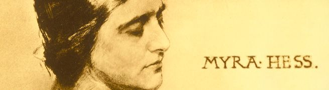 Myra Hess's wartime concerts | History | The National Gallery, London (What a beautiful portrait...)