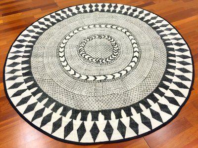 106 Runde Teppiche - Marrakech (rund) (schwarz/grau/weiß)