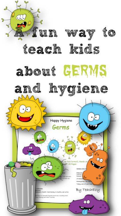 Teaching kids about germs and approprite hygiene. Helpful during the cold and flu season at school. www.teachezy.com www.earlychildhooteachezy.com