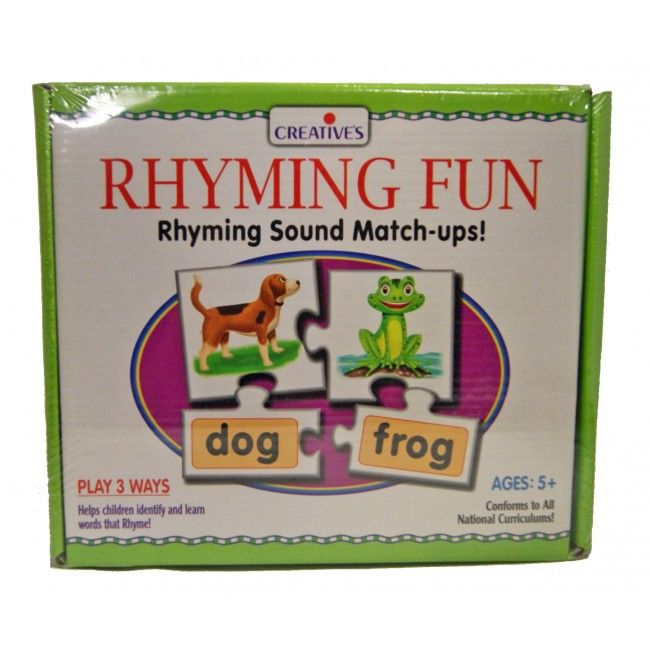 Rhyming can be so much fun! This phonics game is a fantastic way to help primary school-aged children master rhyming words. There are 25 four-piece sets, which have two illustrations on the large pieces, and two corresponding word pieces; children have to match each set with the help of the picture clues and find the rhyming pairs! #teachingtoy #entropytoys #rhymingfun #phonics #learn #backtoschool