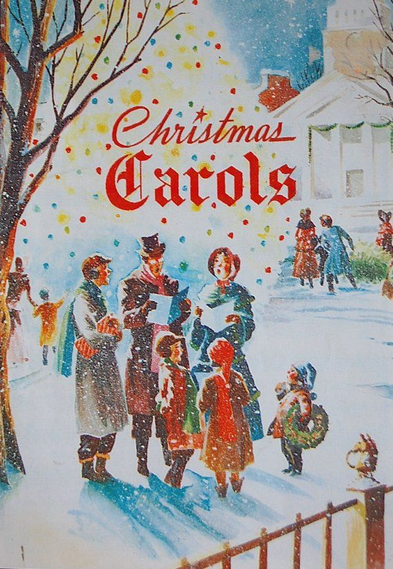 Vintage Christmas Carols Book-I had this Christmas carol book growing up!  I loved it and used it to practice my piano and flute :) Such happy memories