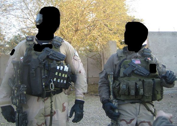 A Delta Force soldier (right) and a British Special Air Service soldier (left) pictured in Iraq, 2008. Delta Force are part of a Combined Joint Task Force (CJTF), with and ever changing code names. This Task Force includes/has included Tier One Special Operations forces from the U.S. (Delta, DEVGRU), the U.K. (SAS, SBS) and Australia (SASR) along with supporting Tier 2 units (US Army Rangers, UK SFSG) and Special Ops aviation and intelligence elements (U.S. 160th SOAR, ISA, U.K. SRR, MI6).