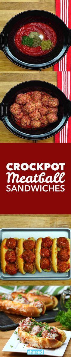 Crockpot Meatball Sandwiches