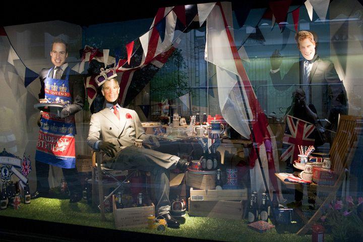 Harrods' Jubilee windows, London visual merchandising