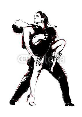 Wektor: latino dance
