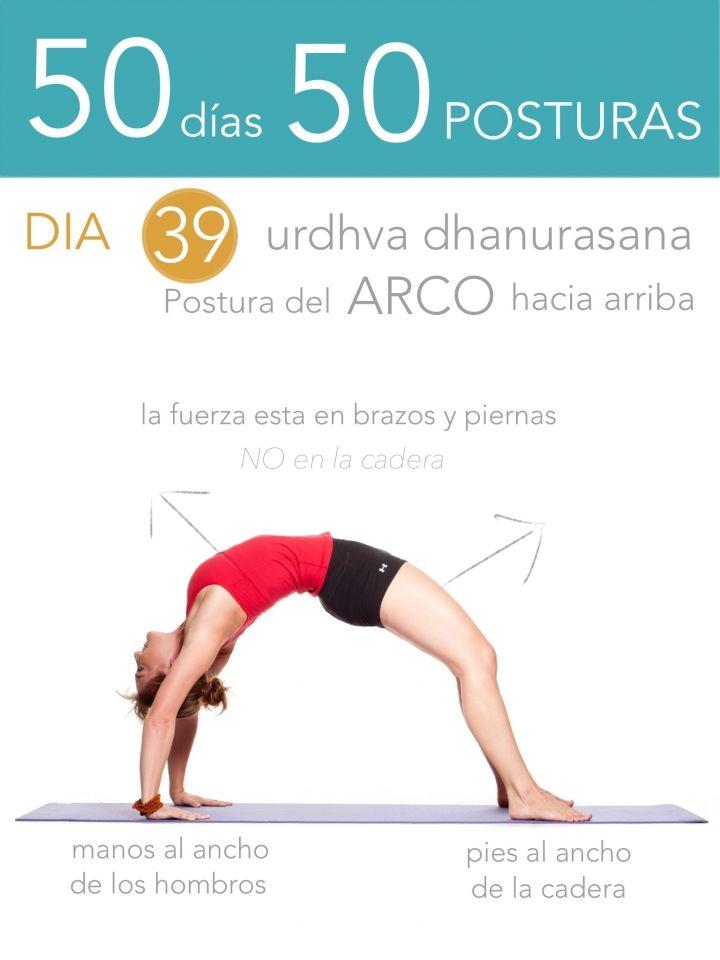 ૐ YOGA ૐ ૐ Urdhva Dhanurasana ૐ 50 días 50 posturas. Día 39. Postura del arco hacia arriba.