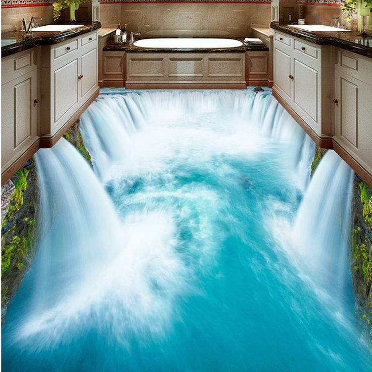 Die besten 25+ Badezimmer 3d boden Ideen auf Pinterest 3 d boden - 3d badezimmerboden