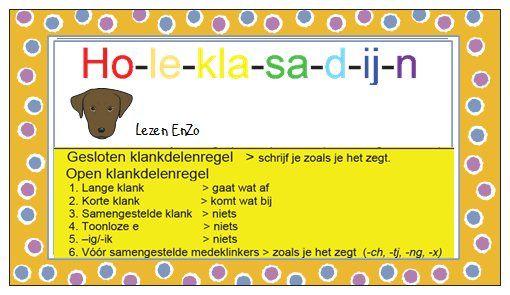 Hulpkaartje spelling > Ho-le-kla-sa-d-ij-n Open en gesloten klanken
