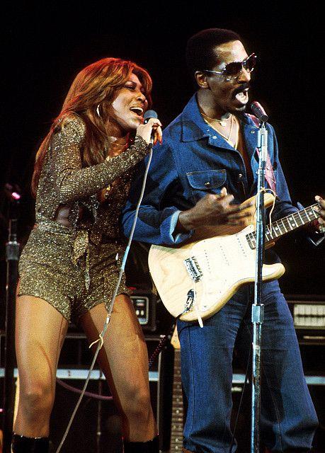 Ike and Tina Turner on stage.
