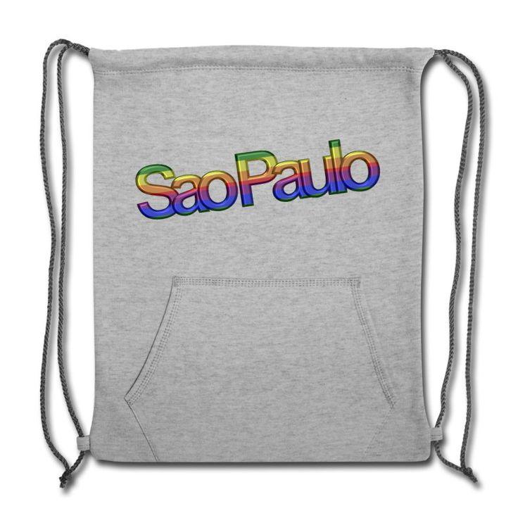 São Paulo  Pride Sweatshirt Cinch Bag, grey. #gaytravel#gaytravel4u#instagay#instagaytravel #gaydestinations