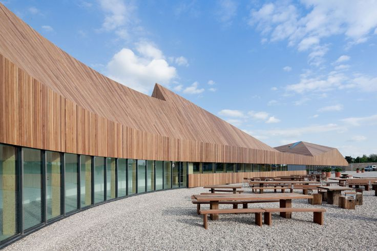 Search.nl Favrholm Campus hillerød exterior wooden roof