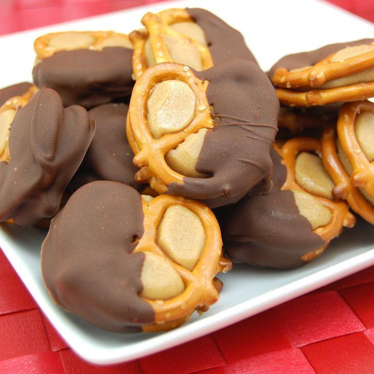 Peanut Butter Buckeye Pretzel Bites recipe