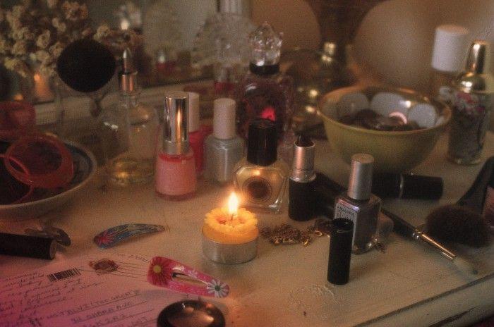 Left to right: Anna Sui Flights of Fancy perfume ($60, annasui.com). Essie nail polish in Bermuda Shorts ($6.50-$8, online). Essie nail poli...