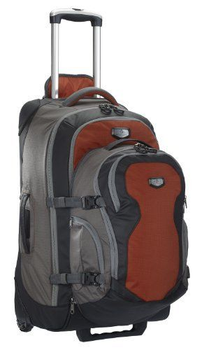 Eagle Creek Switchback Max 25 Travel Pack,Red Clay/Gray,25-Inch Eagle Creek. $350.00. 420D HelixT Tela. 83-liter convertible travel system includes a 55-liter wheeled upright bag with a full-suspension backpack carry option and a detachable 28-liter daypack. Panel loading for easy packing; sturdy build with Sole Patch corner guards; dedicated pockets for electronics or sunglasses. Lightweight system is almost 2-pounds lighter than previous models; lifetime warranty. Zip Away ...