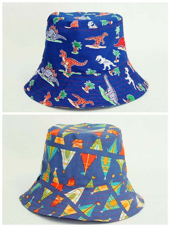Dinosaurs and TeePees babies bucket hat has been handmade with love and attention to detail by One Crazy Mumma. It is made to order in sizing of