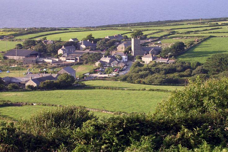 Zennor from Trewey Hill Cornwall