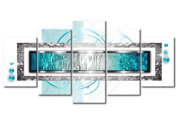 Impresión en lienzo Ventisca de color turquesa cuadro original 5 piezas para el salón o dormitorio ❤ Visita el sitio bimago: la galería con cuadros que te permitirán  expresar tu propio estilo