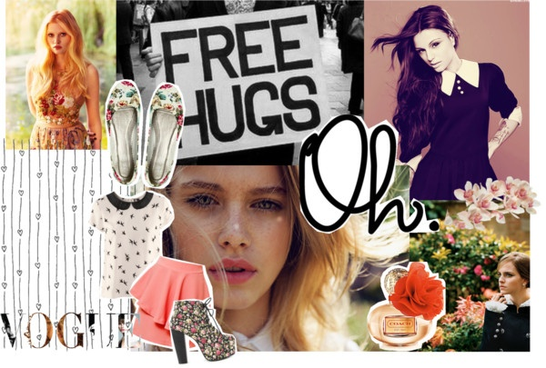 """""""Free Hugs."""" by piece-of-pie ❤ liked on Polyvore"""