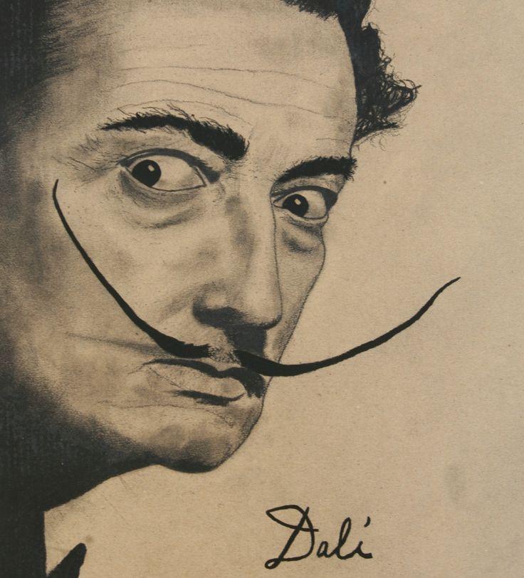 Salvador Dali... #salvador #dali #charcoal #pencil