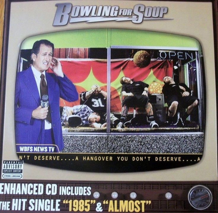 Bowling For Soup / A Hangover You Don't Deserve / Double-Sided Promo Poster / RARE #BowlingForSoup
