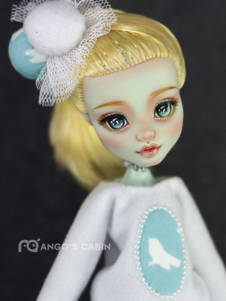 "Monster High Repaint Custom OOAK  ""Claire"" by Mango's Cabin 4-Adult Mattel  #Mattel"