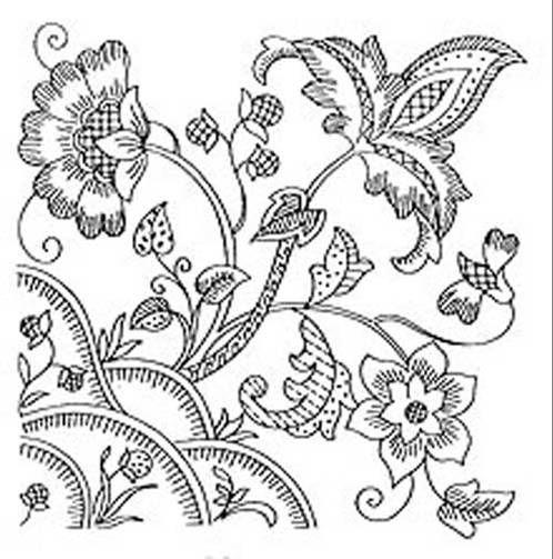 Jacobean embroidery crewel patterns pinterest