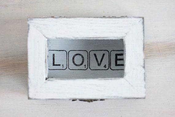 Caja anillo de compromiso anillo de boda portador caja boda