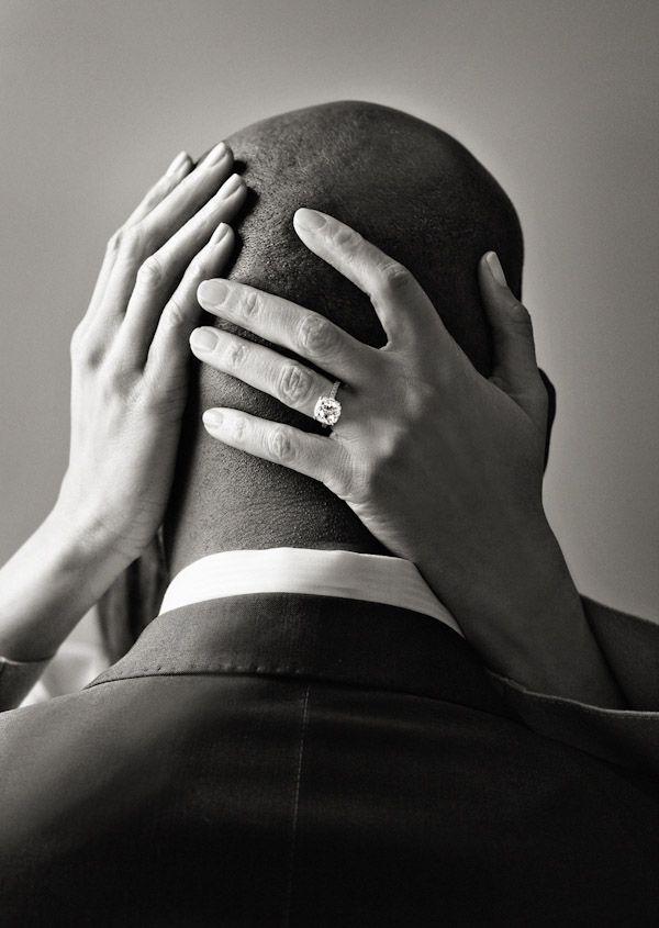 Wedding photo ring shot