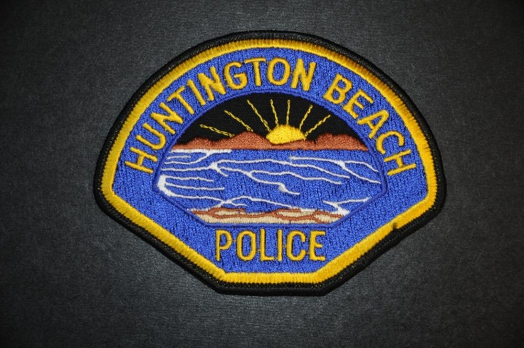 Huntington Beach Police Patch, Orange County, California (Current 1971 - 3rd Issue- Low Tide Style)