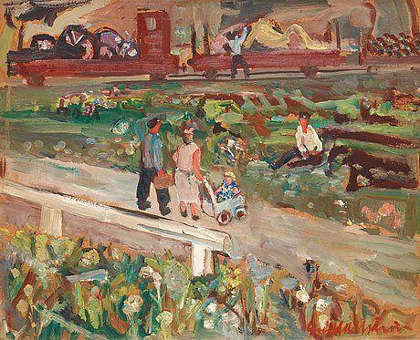 Eric Hallstrom (1893-1946) - Från Stocksund, Lördagseftermiddag (Saturday Afternoon)