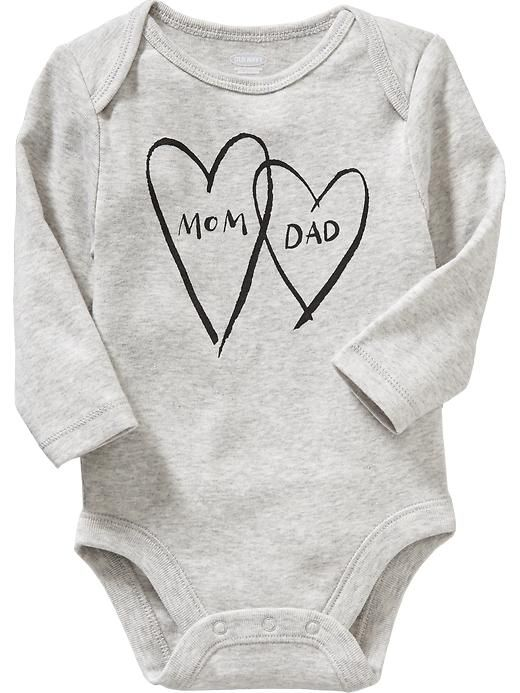 Long-Sleeve Graphic Bodysuits for Baby
