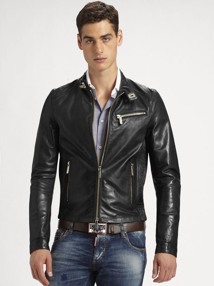 dsquared2-black-leather-jacket