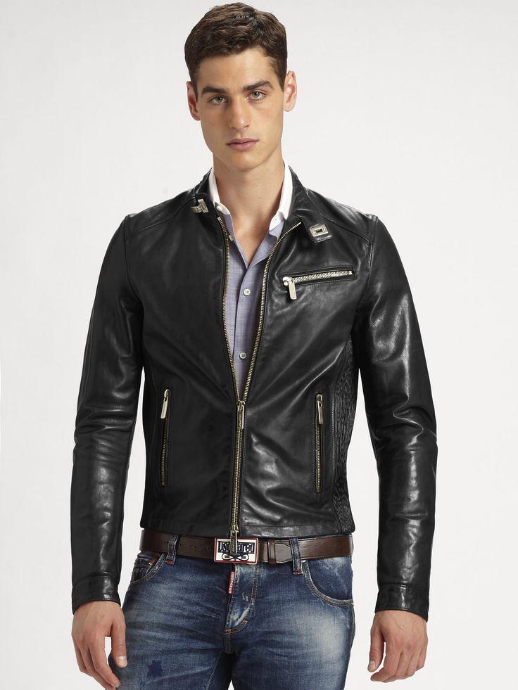 dsquared2-black-leather-jacket