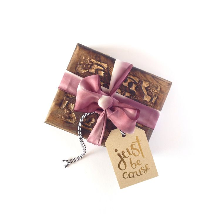 'Just Because' Gold Foil Gift Tag.