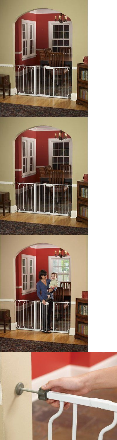 Doors and Flaps 116379: Walk Thru Baby Pet Safety Secure Extra Wide Gate Door -> BUY IT NOW ONLY: $46.95 on eBay!