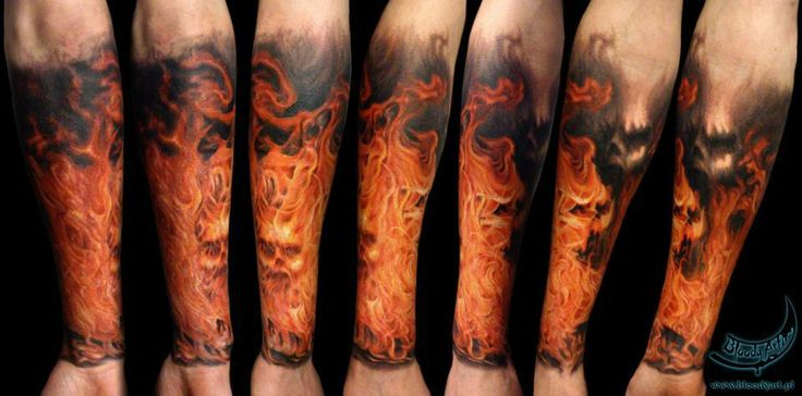 flame tattoo sleeve tattoo inspiration pinterest flame tattoos and tattoos and body art. Black Bedroom Furniture Sets. Home Design Ideas