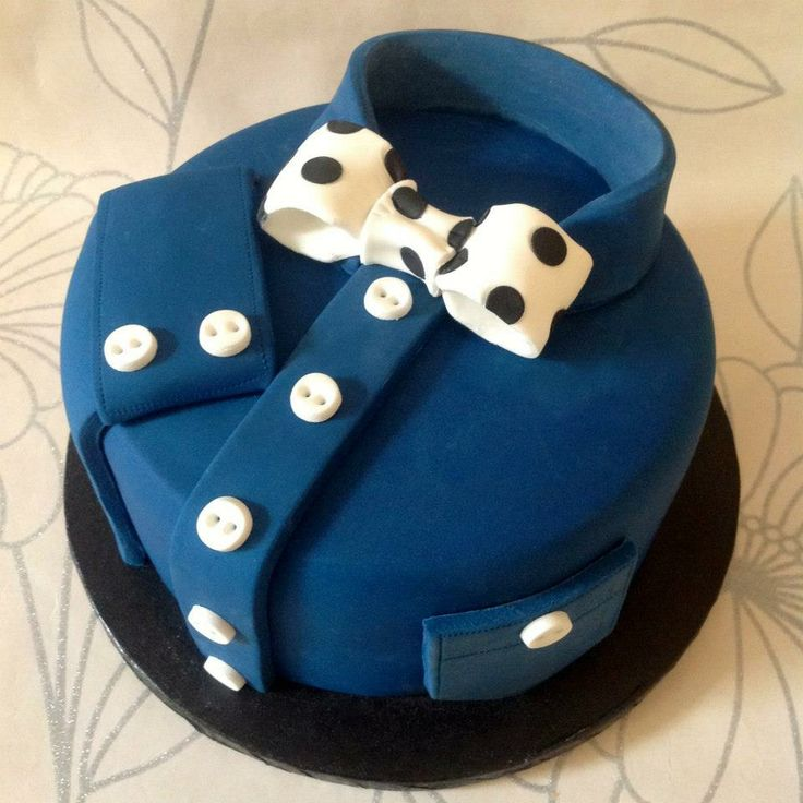 Shirt  Bow Tie cake! by She Who Bakes