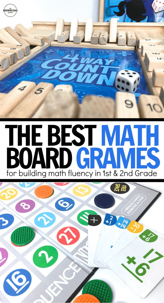 Math Board Games are a FUN way to build fluency and mental-math skills during math centers or guided math blocks. Check out these 7 games perfect for 1st and 2nd grade mathematicians!