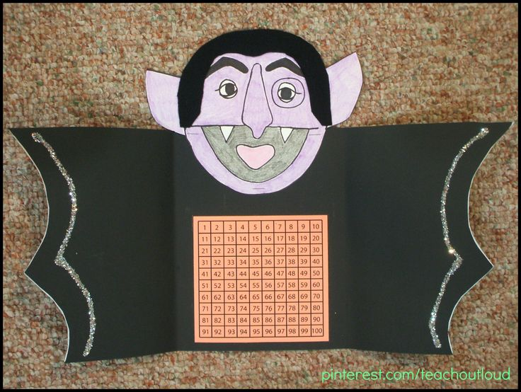 the count hundred chart felt hair and folding wings find this pin and more on halloween art projects - Preschool Halloween Art Projects