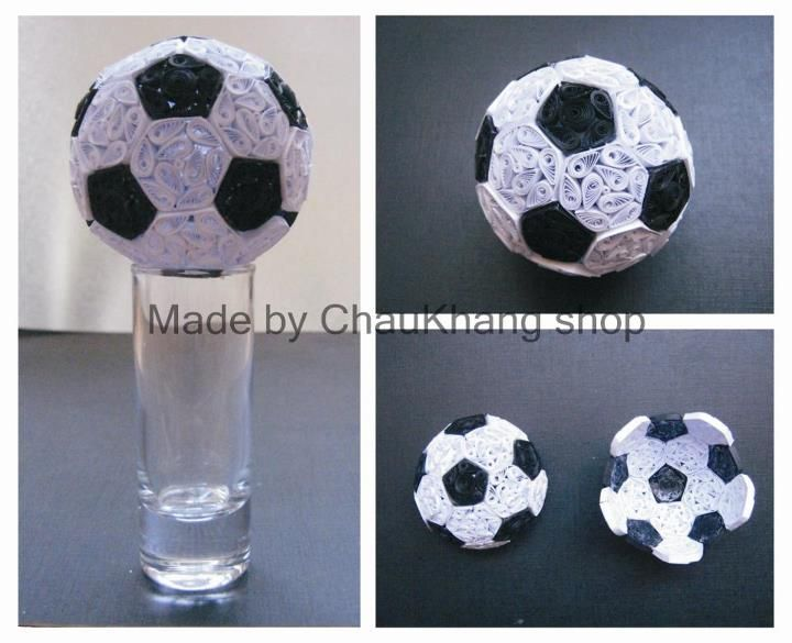 Quilled Soccer Ball - by ChauKhang Shop - www.facebook.com
