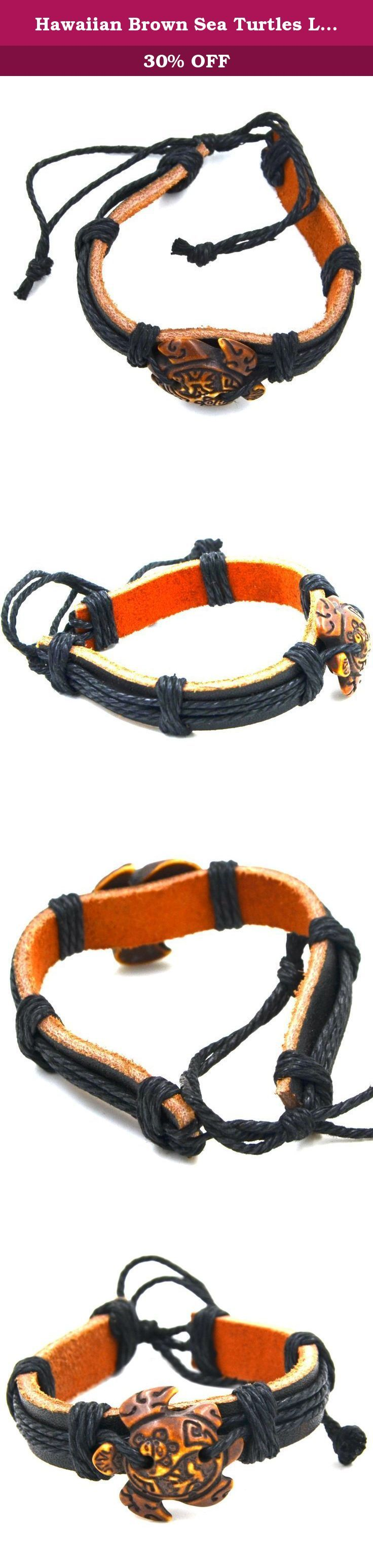 Hawaiian Brown Sea Turtles Leather Bracelet - Coqui Taino and Taino Sun - Adjustable Cord. 90 DAY MONEY BACK GUARANTEE-100% satisfaction guaranteed. That is our promise. So, if you're not completely happy with your purchase within the first 90 days, just let us know. We will do whatever it takes to make it right Provide The Best Quality jewelry and Customer Service on Amazon. About Feedback: Your satisfaction and positive feedback is very important to us. Please leave positive feedback and…