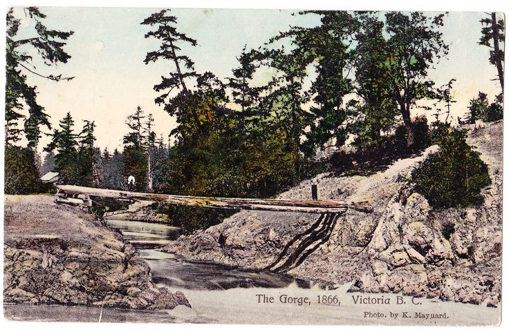 Original crossing at the Gorge, 1866.