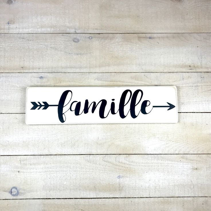 French Wedding Gifts: Flèche Famille, Hand Painted, Sign In French, Wedding Gift