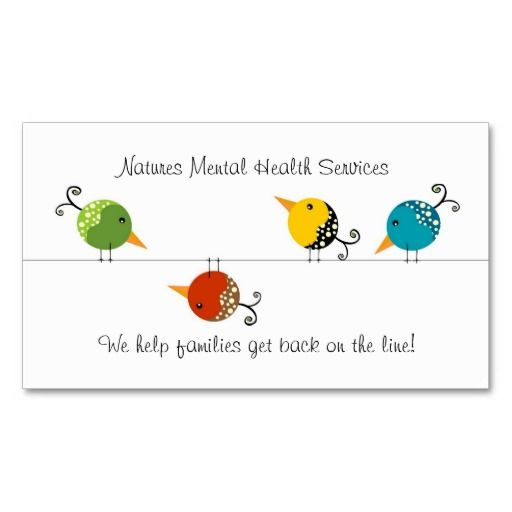 176 best images about mental health counselor business for Health coach business card ideas